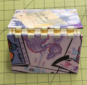 Handmade French Link with Tapes Bookbinding Example