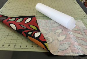 Fabric and Rice Paper