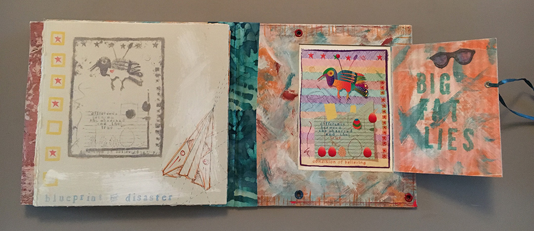 Handmade Altered Book Bookmaking Example