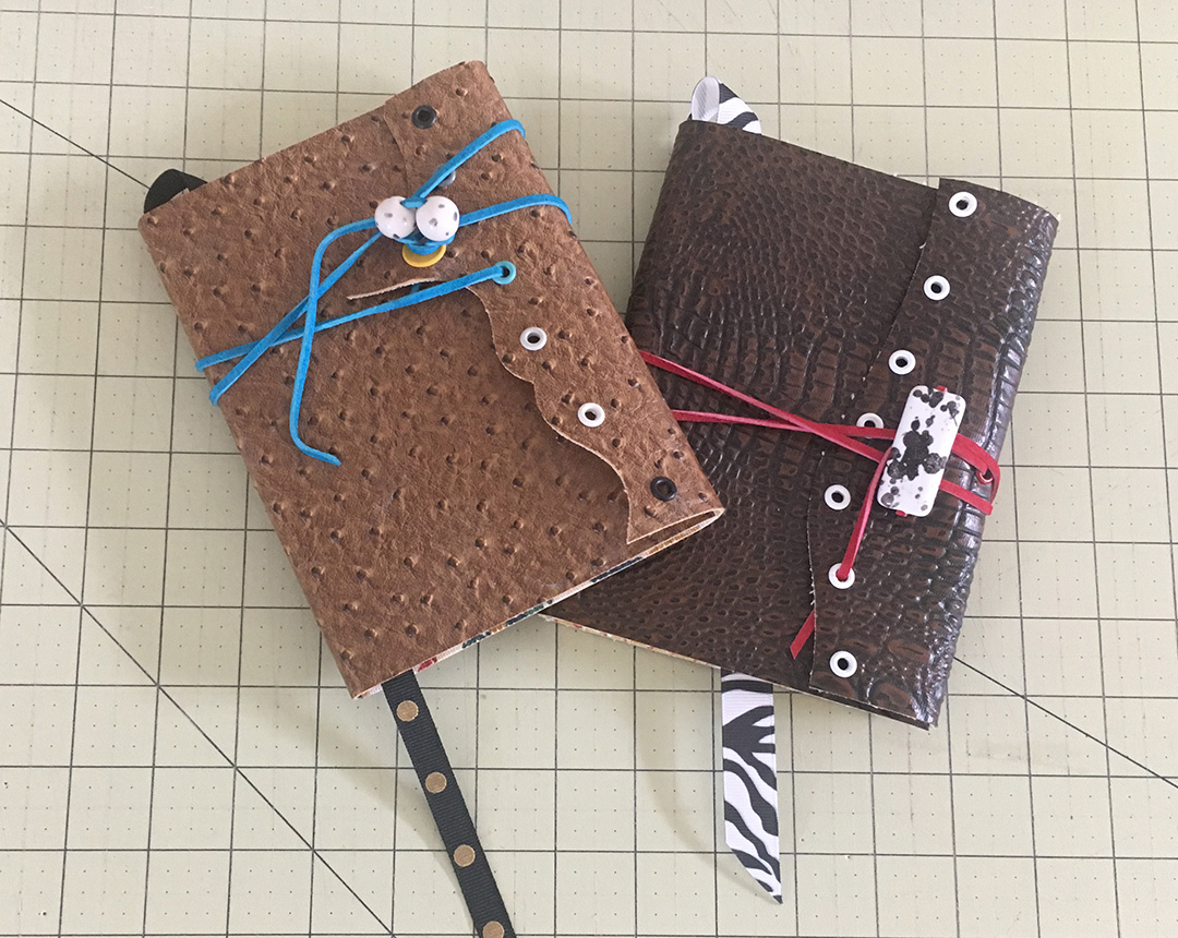 Handmade Faux Leather Wrapped Journals