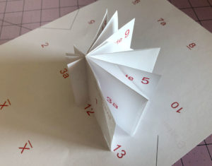 Handmade Folded Guest Book Bookmaking Example