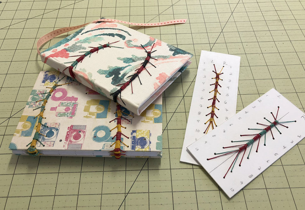 Handmade Caterpillar Stitch Bookbinding Example